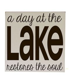 Take a look at this Cream & Brown 'Day at the Lake' Wall Art by Vinyl Crafts on #zulily today!