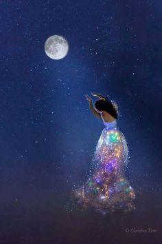 "ladysoneloveuniverseworld: ""Good night world "" Good Night World, Good Night Gif, Good Night Image, Good Night Angel, Good Night Moon, Beautiful Fantasy Art, Beautiful Moon, Moon Magic, Moon Goddess"