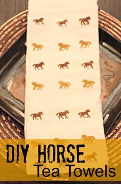 DIY Horse Tea Towels