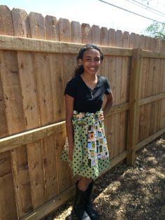 Starbucks Inspired Coffee Paperbag Skirt by JustSewStinkinCute, $44.00
