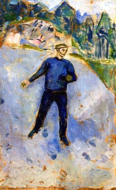 'The Sower Edvard Munch - (1912-13) - Oil on canvas, 123 cm (48.43 in.) x 76 cm…