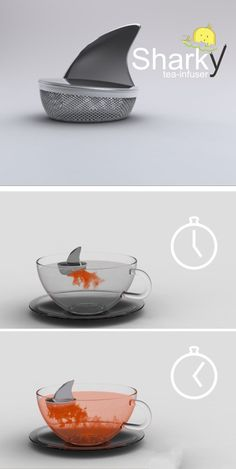 Shark tea-infuser