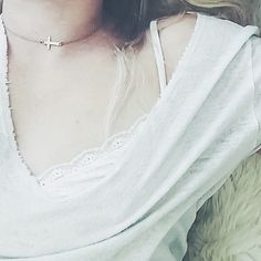 Just Charming//Nashelle Cross Choker - $70 [one plate of food donated for every piece of jewelry sold]
