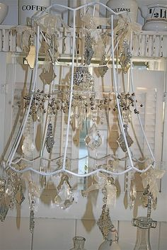 This would be cool with each little squarerectangle being a i have made wire frames and added beads this is an old lampshade frame i may want to try this wonderful lampshades from yard sale finds keyboard keysfo Images