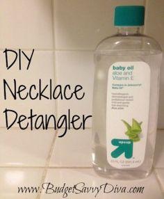 Use Baby Oil as a Necklace Detangler