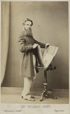 William Holman Hunt, c1865, by London Stereoscopic and Photographic Company. Albumen carte-de-visite. National Portrait Gallery. Given by Algernon Graves, 1916