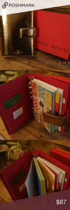 Lovely Kate Spade organizer never used Tabs are as follows: Notes To Do Birthdays Restaurants Addresses kate spade Other