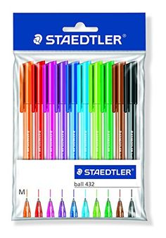Staedtler Ballpoint Stick Pens, 43235MWP10TH Staedtler http://www.amazon.com/dp/B002BDNLR8/ref=cm_sw_r_pi_dp_7W5zvb1RD47A6