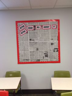 Current events bulletin board