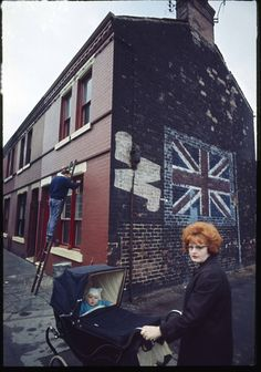 Redhead With Pram, Liverpool, England, United Kingdom, 1965, photograph by John Bulmer.