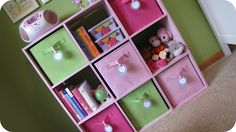pretty and functional toy & kid *stuff* storage.