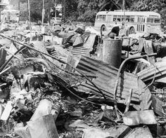 A mass of twisted metal wreckage lay along a Honolulu street after the city had been attacked by Japanese planes Dec. The Associated Press Pearl Harbor 1941, Pearl Harbor Day, Pearl Harbor Attack, Remember Pearl Harbor, Uss Arizona, Planes, American Revolutionary War, Civil War Photos, Historical Pictures
