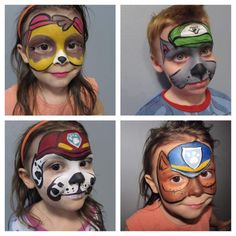 paw patrol face painting ideas for halloween Disney Face Painting, Face Painting For Boys, Face Painting Designs, Paint Designs, Paw Patrol Party, Paw Patrol Birthday, Maquillage Hello Kitty, Paw Patrol Face Paint, Dog Face Paints