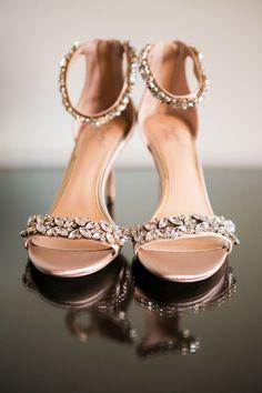 ddf39229fc8b Shoes   Bags Photos - Crystal-Embellished Bridal Sandals. Wedding HeelsRose  Gold ...