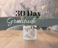 Start each day with a grateful heart! Join the 30 Day Gratitude Challenge and learn how to change your mindset and focus on the positive in your life!