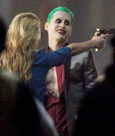 Jared Leto Displays New Tattoos and Fresh Makeup While Kissing Suicide Squad Co-Star Margot Robbie