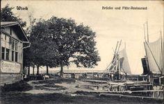 Ansichtskarte / Postkarte Wieck Greifswald in Mecklenburg Vorpommern, Brücke und Fährrestaurant