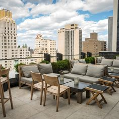 The Roof at the Viceroy Hotel. Amazing view of the City and Central Park. Save this spot to impress your most important out of town guest