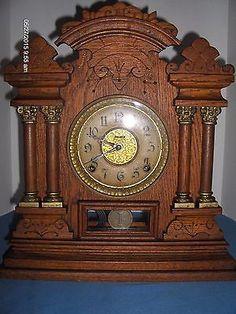 Welch Walnut Eclipse Gingerbread Parlor Clock