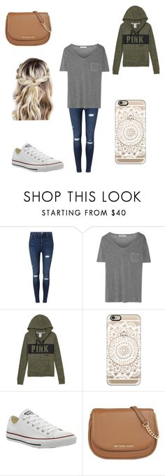 """""""Untitled #178"""" by a-hidden-secret ❤ liked on Polyvore featuring Miss Selfridge, T By Alexander Wang, Casetify, Converse and MICHAEL Michael Kors"""