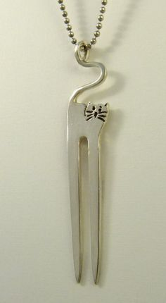 Karli+The+Fork+Kitten++Up+Cycled+Sterling+Silverware++by+robinwade,+$99.00