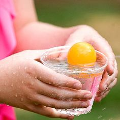 Cool Off! 7 Beat-the-Heat Backyard Activities and Treats: The Cups Runneth Over! (via Parents.com) Backyard Water Games, Water Games For Kids, Backyard For Kids, Summer Activities For Kids, Fun Activities, Summer Games, Summer Fun List, Summer Kids, Outside Games