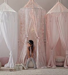Cotton Voile Play Canopy from Restoration Hardware Baby & Child Kids Interior, Restoration Hardware Baby, Little Girl Rooms, Kids Decor, Playroom Decor, Playroom Ideas, New Room, Baby Room, Kids Room