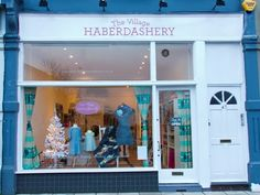 The Village Haberdashery in West Hampstead, London is a sewing, knitting and craft shop and class studio. Haberdashery Shop, Make Do And Mend, Shop Fronts, Inspiring Things, Environmental Design, Retail Space, Craft Shop, Fabric Shop, Visual Merchandising