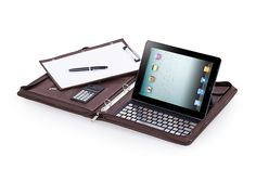 Features of this Deluxe 3-Ring / 4-Ring Binder Folio with Bluetooth Keyboard for iPad Air 2 / iPad, Letter A4 Paper. Description from icarryalls.com. I searched for this on bing.com/images