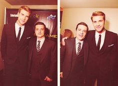 HG buds. I do believe Liam crouched down a little bit just for Josh. What a gentleman.