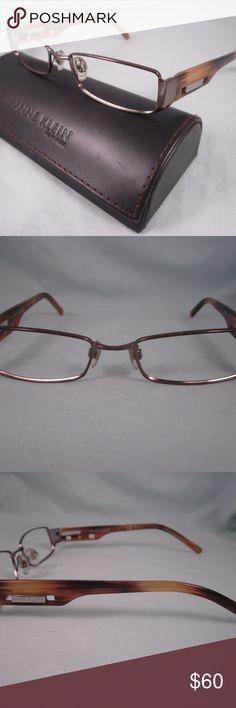 e492083583 ANNE KLEIN NY Rx Eyeglasses AK9077 Brown Silver ANNE KLEIN Rx Eyeglass  Frames Model  AK9077