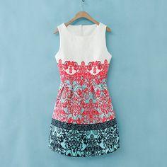 2014 Europe Retro Slim Baroque Totem Paisley Royal Floral Skater Dress Prom Gown | eBay