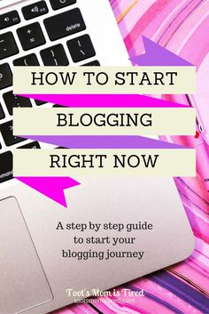 How to Start Blogging Right Now | Thinking of starting a blog? Googling How to…