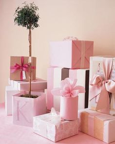 Pink Christmas presents. Pinned on behalf of Pink Pad, the women's health mobile app with the built-in community
