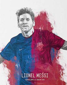 575. Illustration: Messi #fcblive [by @jamessleven]