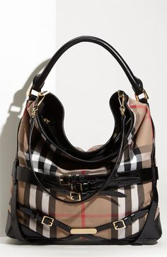 456ea9302a03 Burberry  House Check  Hobo available at  Nordstrom Burberry Purse
