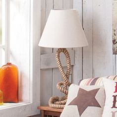 Twisted Rope Lamp - Horse/Western Theme decorating