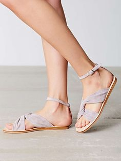 Jeffrey Campbell Twist Sandal in Grey