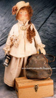 """Emigrant doll"" Made by Evi Araujo, eviscountrysnippets.blogspot.com"