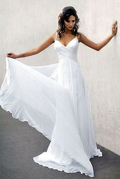 Flowy dress. I like the criss-cross at the waist but not the plunging neckline.