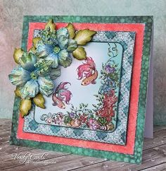 Yay!! we have a new release at Heartfelt Creations! Check out the NEW Under the Sea collection HERE I had fun making these Hibiscus flowers! I decided to make them double layered and removed the stame
