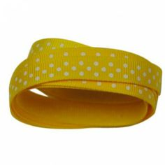 The Party Cupboard : 9mm School Bus Yellow Polka Dot Grosgrain Ribbon : School Bus Yellow Polka Dot Party Ribbon : School Bus Yellow Polka Dot Giftwrap Ribbon : School Bus Yellow Polka Dot Ribbon $0.50 / m  (The Party Cupboard) www.thepartycupboard.com.au