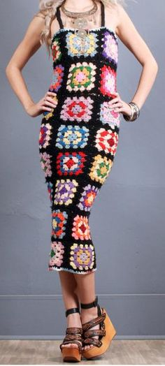 Granny Square Crochet Dress by GrahamsBazaar on Etsy