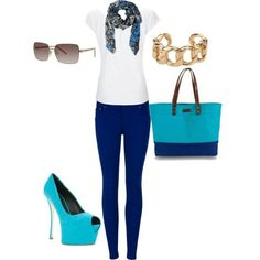 Royal Blue Skinny Jeans :) by nicole