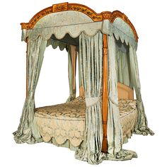 George III Period Four-Poster Bed   From a unique collection of antique and modern beds at https://www.1stdibs.com/furniture/more-furniture-collectibles/beds/