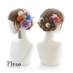 いいね!53件、コメント1件 ― 髪飾りの『Picco(ピッコ)』さん(@picco.flower)のInstagramアカウント: 「Gallery 204 Order Made Works Original Hair Accessory for SEIJIN-SHIKI #アンティーク な雰囲気のカラーでまとめた #ダリア…」