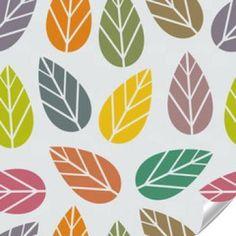 Naklejka - Bezszwowe tekstury z liści