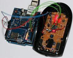 Convert Optical Mouse into Arduino Web Camera