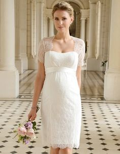 Cut Out Lace Maternity Wedding Dress | Seraphine