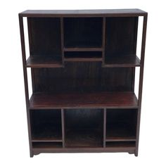 Book Display Shelf, Mahogany Stain, Asian Furniture, Bookcase Shelves, Art Object, Book Collection, Hardwood, Objects, Traditional